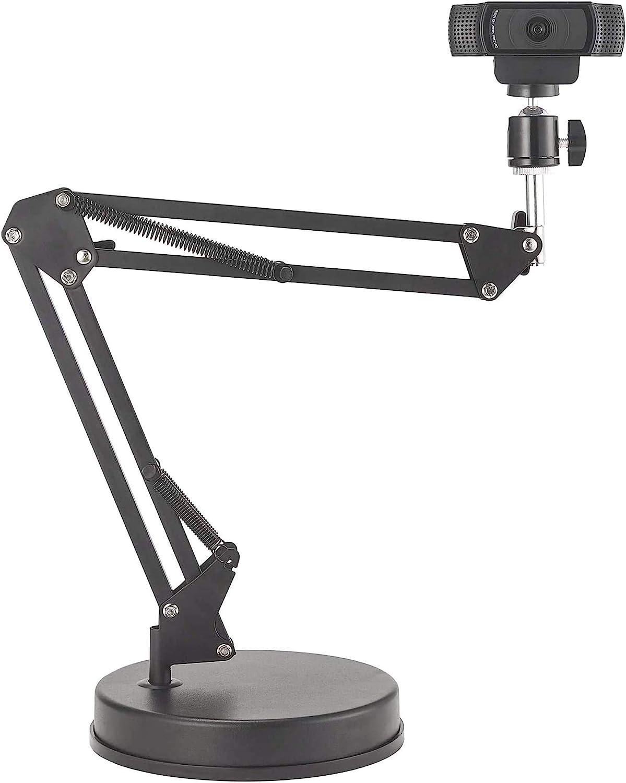 OXENDURE Soporte para Webcam Soporte para Brazo de 22 Pulgadas con Base, Compatible con cámara Web Logitech C925e C922x C922 C930e C930 C920 C615, GoPro Hero 8/7/6/5, Arlo Ultra/Pro/Pro 2 / Pro 3