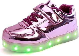DoGeek Zapatos Led Niñas Deortivos para 7 Color USB Carga