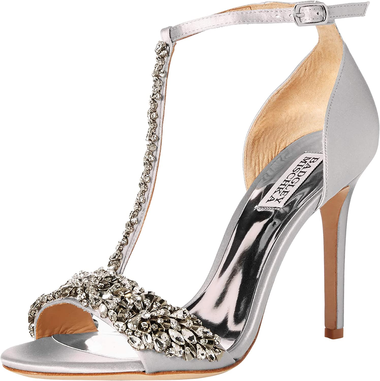 Badgley Mischka Woherren Woherren Veil II Heeled Sandal, Silber Metallic Suede, 5 M US  80% Rabatt
