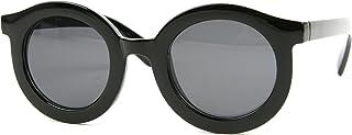 Vintage Thick Rimmed Roundサングラスp2178?( black-smokeレンズ)