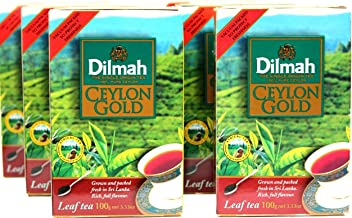 Dilmah Ceylon Gold Leaf Tea 100g (Pack of 6)
