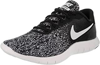 Nike New Women s Flex Contact Running Shoe Black White 8 06ceed73d