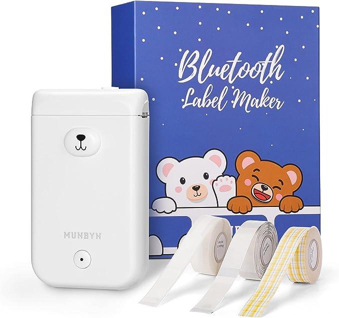 245 opinioni per Mini Etichettatrice Bluetooth, MUNBYN Stampante Etichette Adesive Portatile con