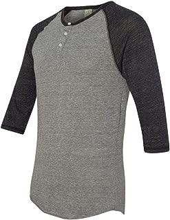 Men's Raglan Three-Quarter Sleeve Henley Shirt