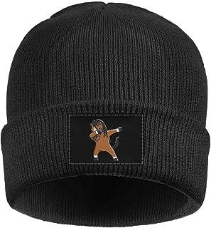 6abdc016564 Fitchhjhjs Men Women Winter Cute Dabbing Horse Funny Pet Hats Wool Knit  Slouchy Warm Hat Baggy