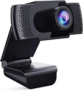 Webcam with Microphone - Full 1080P HD PC Webcam Portable Compatible with Most of Device & App, Plug and Play Webcam for O...
