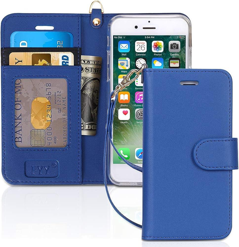 Fyy custodia per iphone 7/8/se 2020 portafoglio in pelle sintetica FYY-IT-H-326-iPhone-7-N