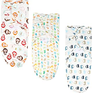 Baby Swaddle Blankets, 3 Pack Swaddle Blankets Wrap Baby Girls Boys,0-3 Months Years Old, Infant Swaddle Sack for Newborn Babies