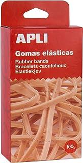 APLI 13362 - Gomas elásticas 120 x 5 mm en caja 100 g