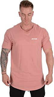 Mens Long Cotton T Shirts Lightweight Muscle Tee 401