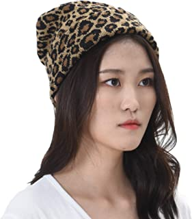 WITHMOONS Knitted Beanie Hat Animal Leopard Pattern Watch Cap KR51083