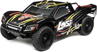 Losi Tenacity SCT Brushless 4WD RC Short Course Truck RTR with DX2E Transmitter with AVC (Battery and Charger Not Included), 1/10 Scale (Black/Yellow)