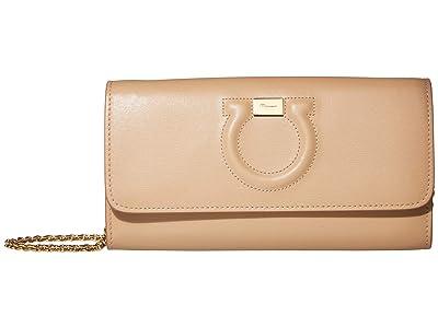 Salvatore Ferragamo City Mini Bag (Almond/Wine) Handbags