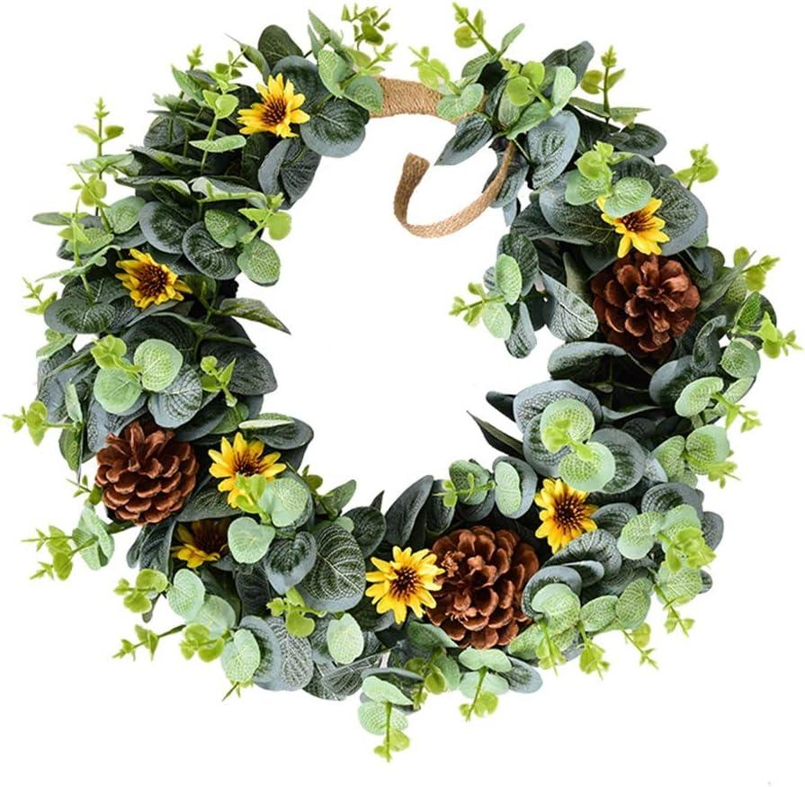 LZL Wreath 15 inch Spring Flower Do for Floral supreme Front Door mart
