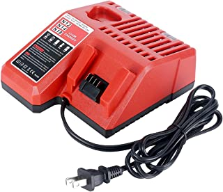 M18 & M12 Rapid Charger Replacement For Milwaukee 48-59-1812 12V&18V XC Lithium Ion Battery 48-11-1850 48-11-1840 48-11-1815 48-11-1828