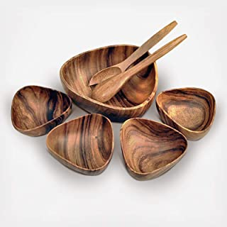 Acacia Wood 7-Piece 3-Sided 10