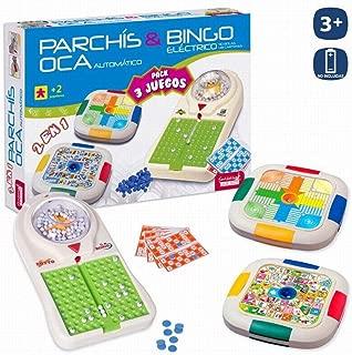 JUINSA- Set 3 Juegos Bingo/Parchis/Oca 54X38 Cm, (96828