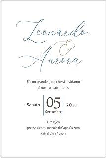 Partecipazioni matrimonio elegante inviti nozze semplici disponibili in tutti i colori 10 pz