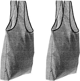 Set of 2 KNALLA Reusable Shopping Bags | Black Grid by Ikea