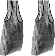 Set of 2 KNALLA Reusable Shopping Bags   Black Grid by Ikea