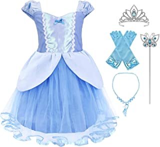 Princess Mermaid Dress Costume for Baby Toddler Girl