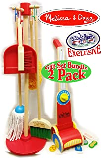 Melissa & Doug Wooden Let's Play House! Dust, Sweep, Mop & Vacuum Up Cleaning Playsets Exclusive