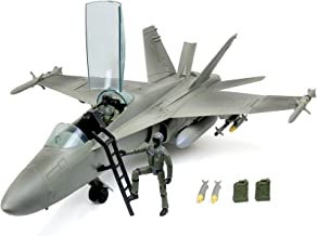 Click N' Play Military Air Force F/A 18 Super Hornet Fighter Jet, 16 Piece Play Set with Accessories.