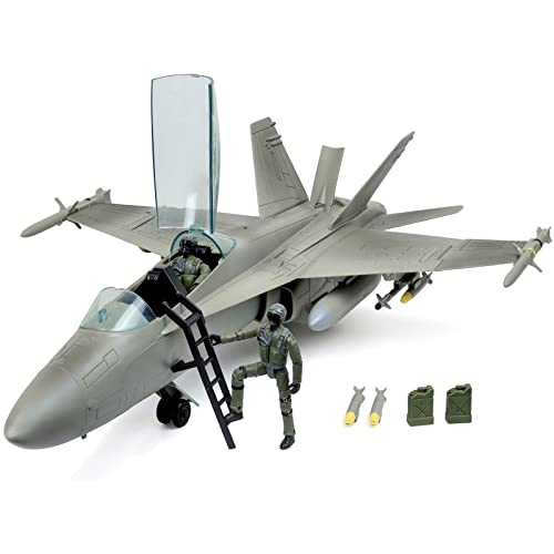 Plastic Military Airplane Fighter Model Kids Simulation Plane Toy Collection