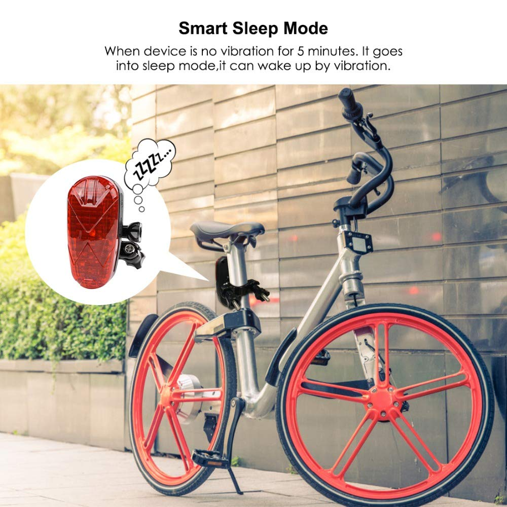 GPS Rastreador de Bicicleta, LED Mini Localizador GPS Anti-Robo ...
