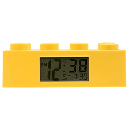 LEGO 9002144 Yellow Brick Kids Light Up Alarm Clock | yelow | plastic | 9.5 inches