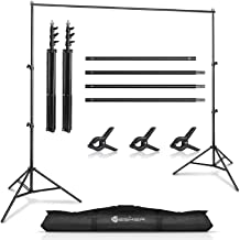 $39 » Yesker Photo Video Studio 10ft Adjustable Backdrop Stand, Background Support System Kit with Carry Bag for Photography Stu...