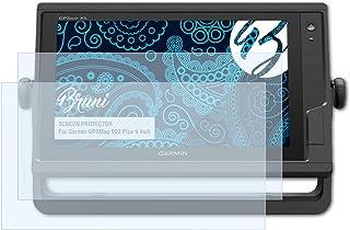 Bruni Pellicola Protettiva compatibile con Garmin ECHOMap UHD 62cv Pellicola Proteggi cristallino Proteggi Schermo 2X