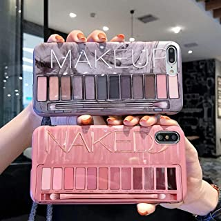 BONTOUJOUR iPhone X/iPhone XS Case, Stylish Luxury Eye Shadow Makeup Pallete Phone Case, Girl Fashion Eye Shadow Box Soft TPU Cover Case Glossy Surface -Flesh
