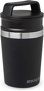 Stanley Adventure Shortstack Travel Mug 0.23L / 8OZ Matte Black – Lekvrij | Vacuüm geïsoleerde thee en koffie reismok | Ro...
