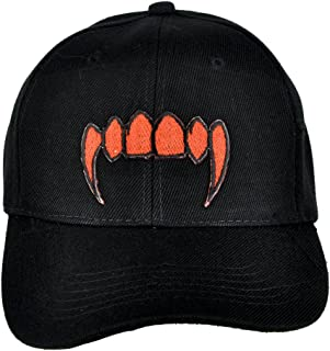 a7eda9148cf Vampire Fangs Blood Red Hat Baseball Cap Alternative Clothing Halloween  Cosplay