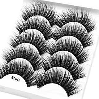 f32f16e3d40 WENSY imitation water mane 5 pairs of 3D artificial natural fiber  waterproof thick eyelash eye beauty