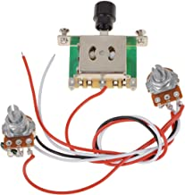 Kmise Prewired Guitar Wiring Harness 500k Pots 3 way Switch For Fender Tele replacement Pack of 1