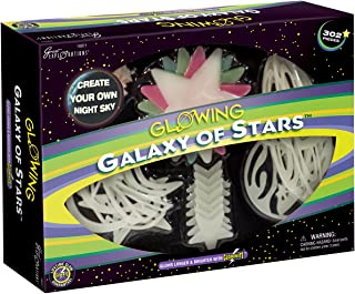 Great Explorations Galaxy Of Stars by University Games | Glow-in-the-Dark Stars, Planets, Moons, and Celestial Shapes | Comes with 302 Decorative Glow Pieces and Adhesive| For Ages 3 Years and Up