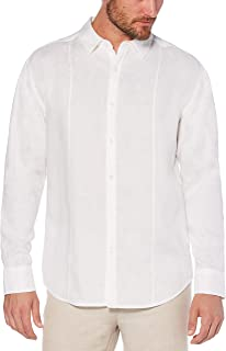 Cubavera Men's Long Sleeve 100% Linen Essential Shirt with Pintuck Detail