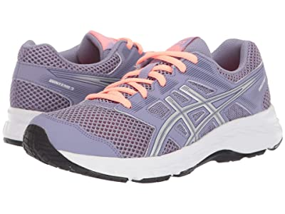 ASICS Kids Gel-Contend 5 (Big Kid) (Ash Rock/Silver) Girls Shoes