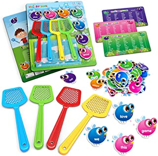 SpringFlower Sight Word Game, Swat a Sight Word Educational Toy for Age of 3,4,5,6 Year Old Kids, Boys & Girls, Visual, Ta...