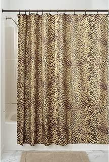 InterDesign Cheetah Fabric Shower Curtain - 72 inch by 72 inch