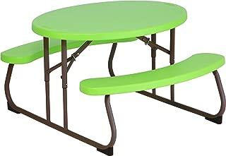 Lifetime 60132 Children's Oval Picnic Table, Lime Green