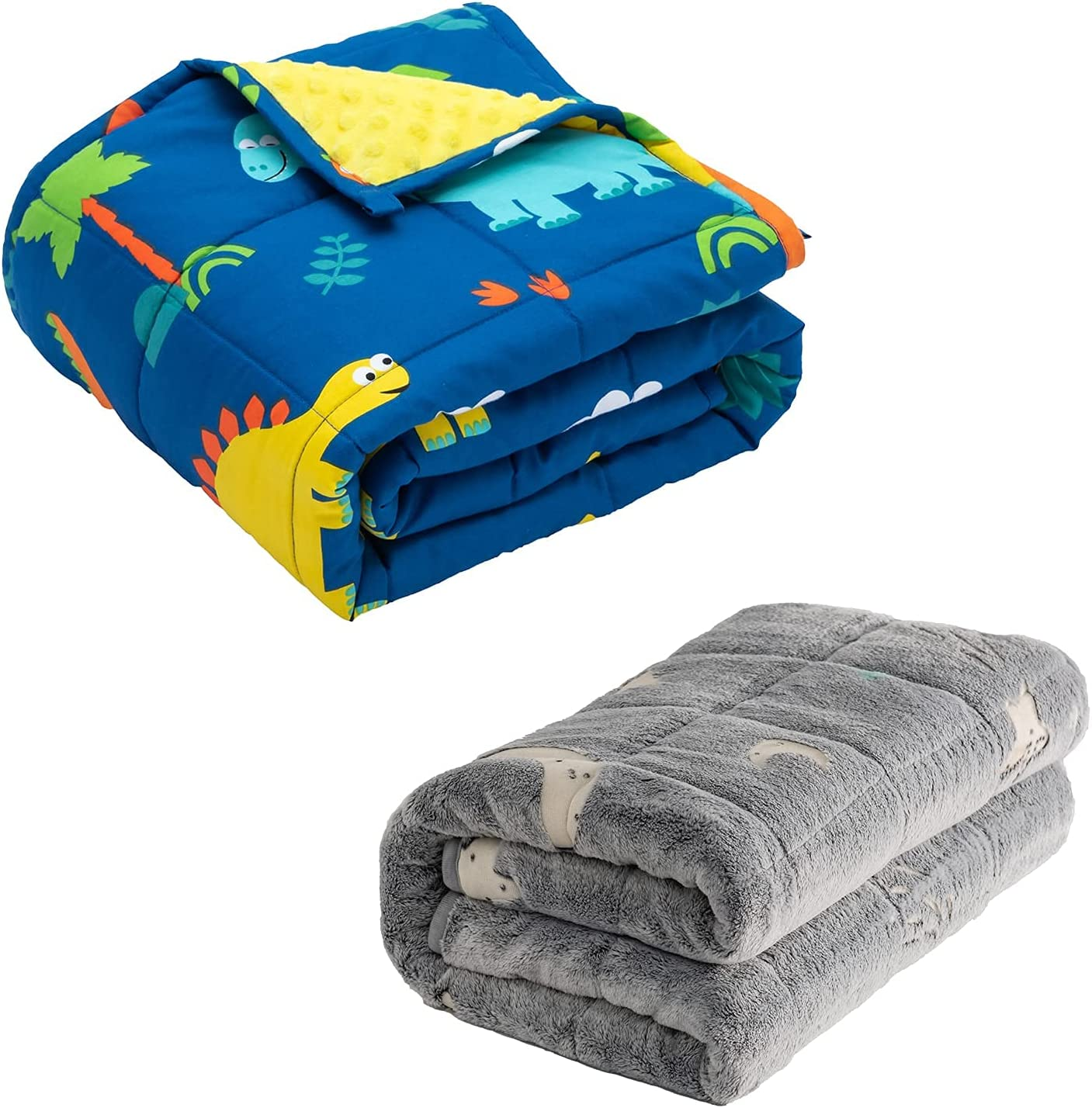 Kids Weighted Blanket 3 lbs Cozy All items free shipping Minky Cotton Fleece Recommended with Sided