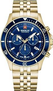 Swiss Military Hanowa - Reloj Analógico para Unisex Adultos de Cuarzo con Correa en Acero Inoxidable 06-5331.02.003