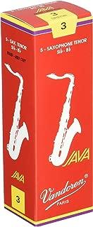 Vandoren SR273R Tenor Sax JAVA Red Reeds Strength 3; Box of 5
