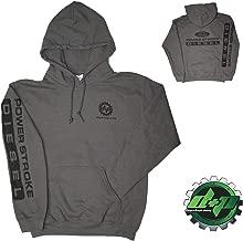 XLarge Gray DPP Ford Powerstroke Diesel Hoodie Hooded Sweatshirt Long Sleeve