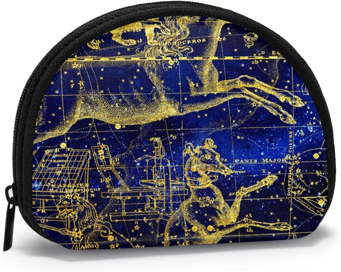 Special sale item Regular dealer Women Change Coin Purse Constellation Girl Zodiac Galaxy Unicorn