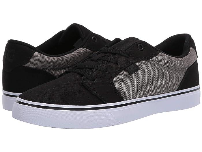 DC  Anvil (Black/Herringbone) Mens Skate Shoes