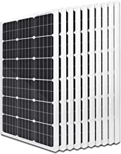 ECO-WORTHY 1000W 10pcs 100W 12V Solar Panel 1KW Mono Solar Panel for Home Monocrystalline On/Off Grid Solar Panel System